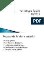 Geologia Gabinete Petrologia GE 241 AGRICOLA 2017 I Parte 2