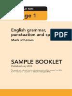 Sample Ks1 EnglishGPS Markscheme