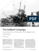 The Galliploi Campaign - Learning From a Mismatch of Strategic Ends and Means