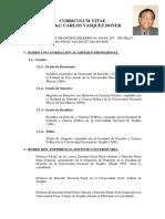 Curriculum Vitae Carlos Vasquez Boyer