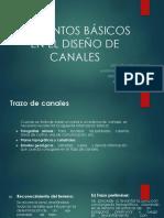 Elementos basicos en el diseño de canales