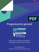 Congreso de Antropología. Programación final
