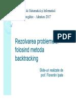 FMI Backtracking 2017