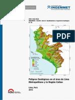 Boletín 59 - Peligros Geológicos en El Área de Lima Metropolitana y La Región Callao