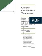 Glosario Costumbrista Venezolano