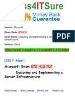New Pass4itsure Microsoft 070-413 PDF - Designing and Implementing a Server Infrastructure
