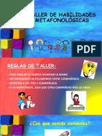 Taller de Habilidades Metafonológicas Kinder Silaba Inicial