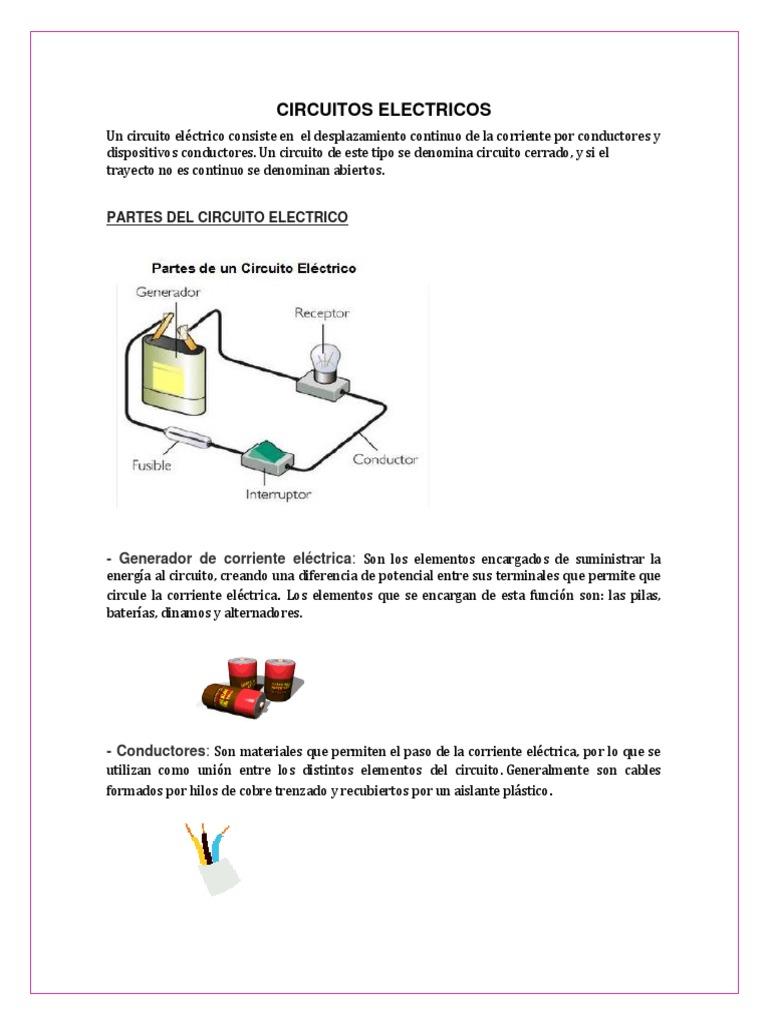 Circuito Y Sus Partes : Circuitos electricos salas