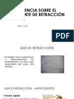 Influencia Sobre El Coeficiente de Retracción