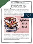 AKTU Syllabus