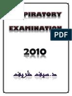 Sheet - Respiratory Examination