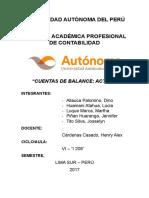 Cuentas de Balance - Activo