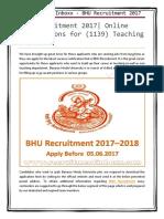 BHU Recruitment