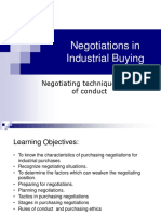 4. Negotiations in Industrial Buying