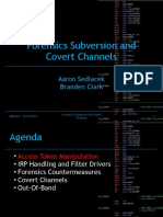 12 Rootkit Anti-Forensics and Covert Channels