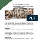 Financial Management Case Studies