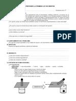 Actividad experimental 1° Ley De Newton