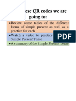 Simple Present Tense Agenda