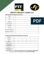 Jom Fit 2 Registration Form