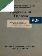 Epigrams of Thoreau_1925