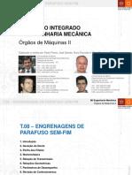T.08 - Engrenagens de Parafuso Sem-Fim