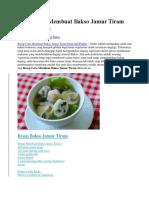 Resep Cara Membuat Bakso Jamur Tiram Enak Praktis.docx