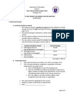 Guidelines and Rubrics on Awards and Recognition SY 2016-17