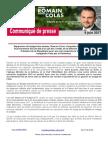 CP Romain COLAS - Gel Du Budget de La Défense - 9 Juin 2017