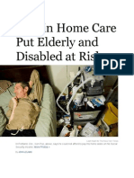 Elderly and Disabled at Risk