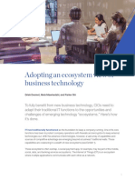 Adopting an Ecosystem View of Business Technology