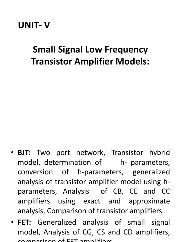 Edc Ppt5 Amplifier Analog Circuits Example Ac Transistor Circuit Analysis Of The Mid Frequency Response
