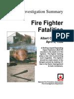 Fire Investigation Summary 5 - 1998