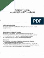 Engine Testing Eqip Proced