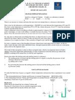 Std 9 - Chemistry - Study of Gas Laws