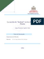 Aguirre Sala, Jorge Fco. - La noción de _Hedoné_ en los diálogos de Platón (1).pdf