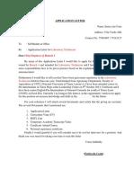 Application Letter II