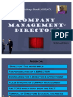 Company Management-Directors by SUBHAYU DAS