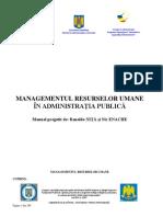 4. Materiale de Formare Managementul Resurselor Umane