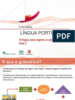 Aula3 a Lingua Seu Signos e a Gramatica