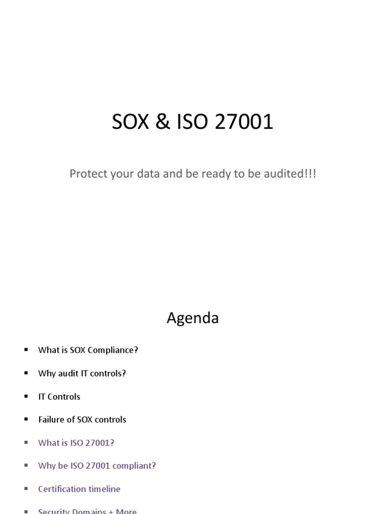 Sox with iso 27001 27002 mapping audits xflitez Images