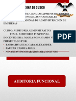 Auditoria Funcional 12