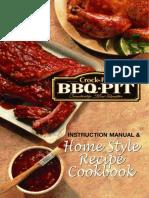 Crock-Pot  BBQ-PIT user manual, recipe book