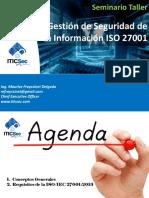 Seminario Taller Gestión de Seguridad de la Información ISO 27001