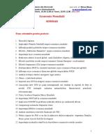 Teme Orientative Pentru Proiectul de Seminar Economie Mondiala
