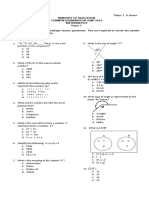 Mathematics - Form 2 - Paper 1