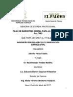 Alberto Felan Memoria de Estadia