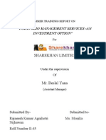 Project Report on Sharekhan by Rajnesh Agnihotri -e 45...