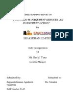 Project Report on Sharekhan by Rajnesh Agnihotri -e 45...