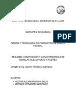 Resumen Tecnología de Procesamiento Oleaginosas