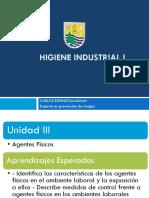 Higiene Industrial I -Clase 10, Agentes Fisicos